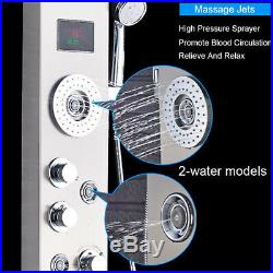 Shower Panel LED Multi-function Tower Faucet Massage Jets Hand Shower Tub Tap
