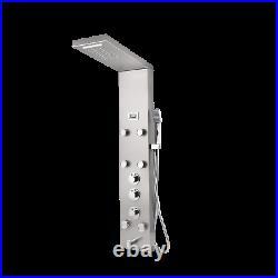 Shower Panel Rainfall&Waterfall Spout Shower column Set Handheld Spray Mixer Tap