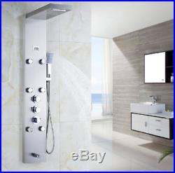 Shower Panel Shower column Set Brass Rainfall Shower Head Hand Sprayer Tap