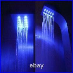 Shower Panel Silver Column Massagedusche Set System Fitting
