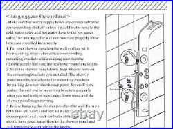 Shower Panel System Tower with Shelf, LED Rainfall and Mist Head Rain Massage S