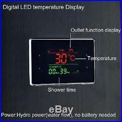 Shower Panel Tower LED Display Rain&Waterfall Massager Body System Sprayer Tub