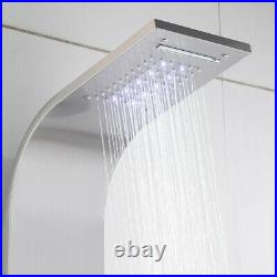 Shower Panel Tower LED Rain&Waterfall Jets&Hand WithMassage Body System Spray USA
