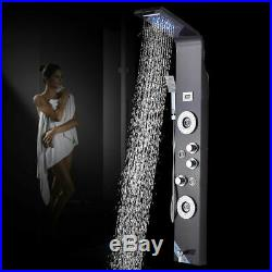 Shower Panel Tower LED Rain Waterfall Massage Body System Jets Oil Rubbed Bronze