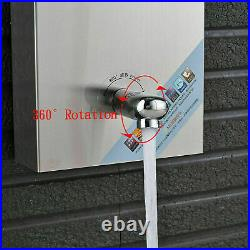 Shower Panel Tower LED Rain Waterfall System Jets Massage Body Brushed Nickel