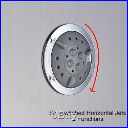 Shower Panel Tower LED Shower Head Temp 3 Handles Stainless Steel Wall Mount Tap