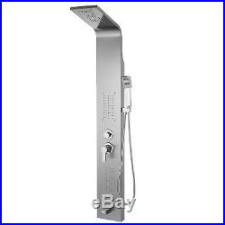 Shower Panel Tower Massage System Stainless Steel Wall Mount Anti-pollution