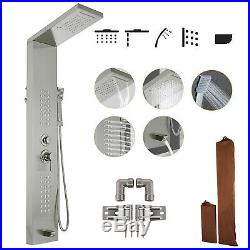 Shower Panel Tower Rain&Waterfall Massage Body System 5 In 1 304 Stainless Steel
