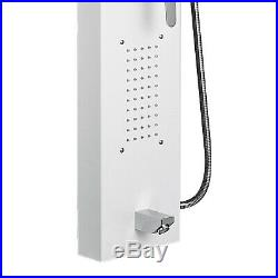 Shower Panel Tower Rain Waterfall Massage Body System 5 In 1 Sprayer White