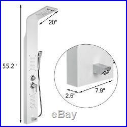 Shower Panel Tower Rain&Waterfall Massage Body System Stainless Steel
