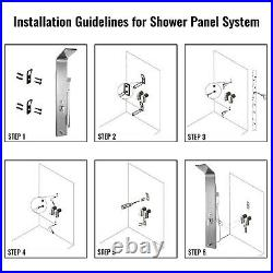 Shower Panel Tower Rain Waterfall Massage System Body Jets Stainless Steel