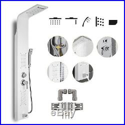 Shower Panel Tower Rain Waterfall With Massage Bodys System Jet Stainless Steel