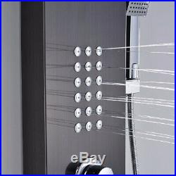 Shower Panel Tower Rainfall&Waterfall Massage System Body Jets Oil Rubbed Bronze