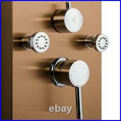 Shower Panel Tower System 8-Jet Rainfall Waterfall Shower-Head Handheld Wand 65