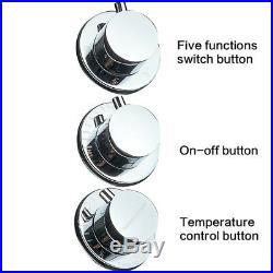 Shower Panel Tower System LED Massage Jet Temperature Display Shower Faucet