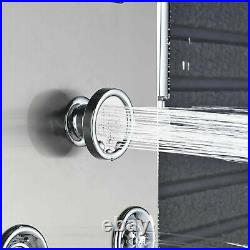 Shower Panel Tower System LED Rainfall&Waterfall Head Massage Stainless Body Jet