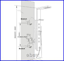 Shower Panel Tower System Muti-Function with LED Rain Waterfall Head Massage Jet