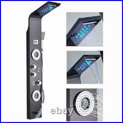 Shower Panel Tower System Rainfall Waterfall Shower Massage Spa Body Jet Sprayer