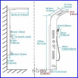 Shower Panel Tower System, Rainfall and Mist Head Rain Massage Shower Fixture St