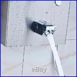 Shower Tower Panel Rain Waterfall Shower System Body Massage Set Brushed Nickel