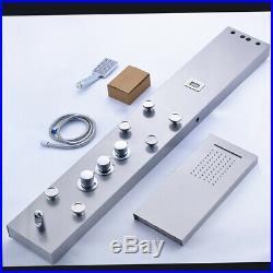 Stainless Digital Screen Rain Shower Panel Column Massage Sprayer Mixer Faucet