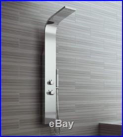 Stainless Steel Shower Column Tower Panel Twin Head 2 Body Jets UK