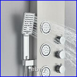 Stainless Steel Shower Panel Tower Column Waterfall Rain Massage Body Jet System