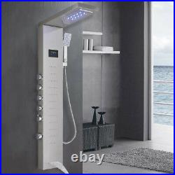 Stainless Steel Shower Panel Tower Massage Body Jets Spray Rain&Waterfall System