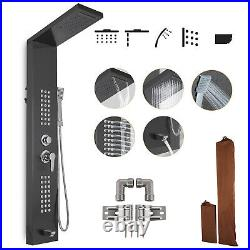 Stainless Steel Shower Panel Tower Rain&Waterfall Massage Body System 5in1