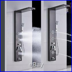 Stainless Steel Shower Panel Tower Rain Waterfall Massage Jets Sprayer Tub Tap