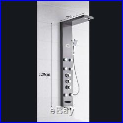 Stainless Steel Shower Panel Tower Rain Waterfall Massage System Sprayer