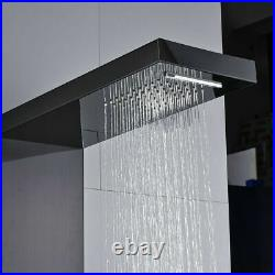 Stainless Steel Shower Panel Tower Rain Waterfall Shower Body Massage Jet System
