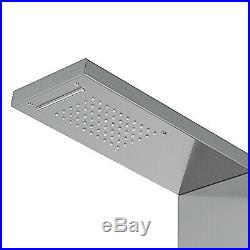 Stainless Steel Shower Panel Tower Rain Waterfall WithMassage Body System Jet