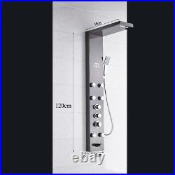 Stainless Steel Shower Panel Tower Rainfall Body Massage System Sprayer Set