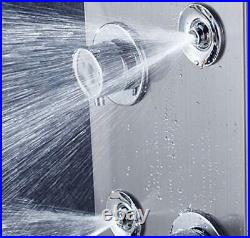 Stainless Steel Shower Panel Tower System, LED Brushed Nickel Stainless Steel