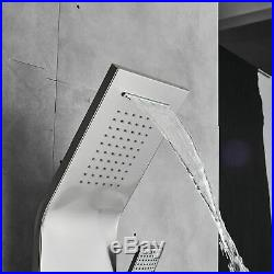 Stainless Steel Shower Panel Tower Water&Rainfall Massage System Jets Tub Tap
