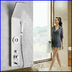 Stainless Steel Shower Panel Tower Waterfall Rain Massage System Body Jets Spray