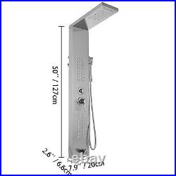 Stainless Steel Shower Panel Tower Waterfall&Rain With Massage System Body Jet Tap