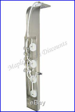 Stainless Steel Shower Tower Head Thermostatic Control Rainfall Panel Body Jets