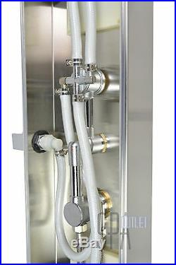 Stainless Steel Thermostatic Shower Spa Panel Tower Body Jets Rainfall LED Light
