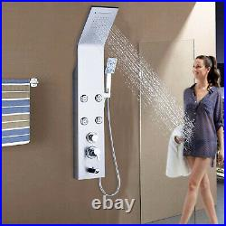 Stainless steel Rainfall Waterfall Shower Panel Tower Massage Jets System Faucet