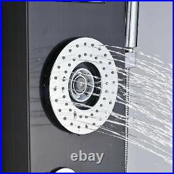 Stainless steel Shower panel LED Tower Faucet Massage Jets Mixer Tap Waterfall