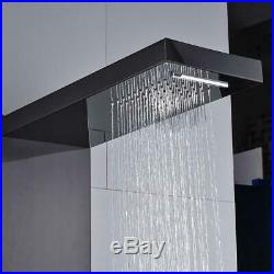 Suguword Waterfall Rain Shower Panel Tower Stainless Black Normal
