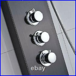 Thermostaic Oil Rubbed Bronze Shower Panel Tower Rain & Waterfall Massage System