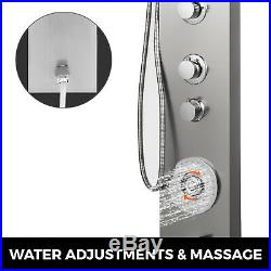 Thermostaic Shower Panel Tower LED Rainfall Waterfall Massage System Body Jet