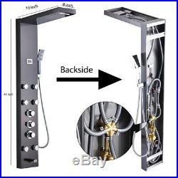 Thermostaic Shower Panel Tower Rain&Waterfall Massage Body Spray Stainless Steel