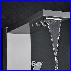 Thermostaic Shower Panel Tower Rain&Waterfall Massage Body System Sprayer Mixer
