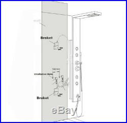 Thermostaic Shower Panel Tower Stainless Steel Rain&Waterfall Massage Jet System