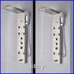 Thermostaic Shower Panel Tower System Rain&Waterfall Massager Body Jet Tap