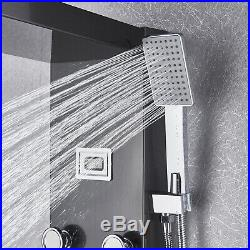 Thermostaic Shower Panel Tower Waterfall&Rain Massage System Body Jets Tub Tap